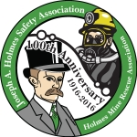 Joseph A. Holmes Safety Association 100th anniversary logo